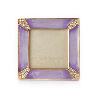 "Jay Strongwater Leland 2"" Square - Lavender"