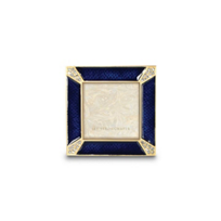 "Jay_Strongwater_Delft_Garden_Leland_Pave_Corner_Square_Frame,_2""x2"""