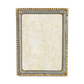 Jay Strongwater Lucas Stone Edge Picture Frame, 5x7