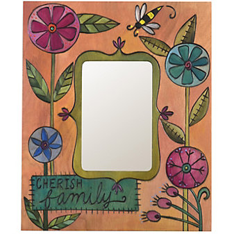 Sticks Cherish Family Bee Flowers Picture Frame, 8x10