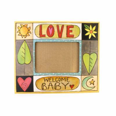 Sticks 5X7 Welcome Baby frame