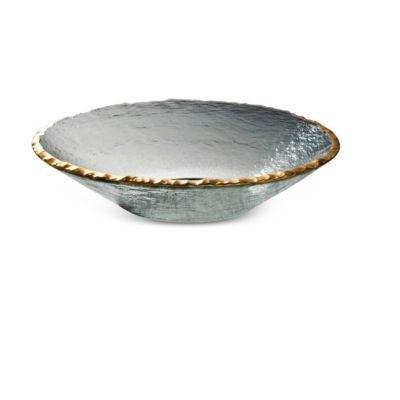 "Annieglass Edgey Gold 13"" Bowl"