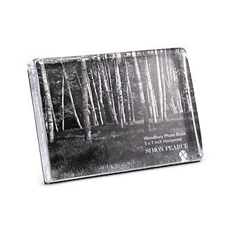 "Simon Pearce Woodbury Horizontal Photo Block Frame, 5"" x 7"""