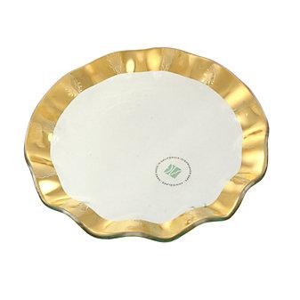 Annieglass Ruffle Dessert Plate