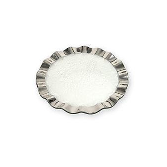 Annieglass Platinum Ruffle Buffet Plate