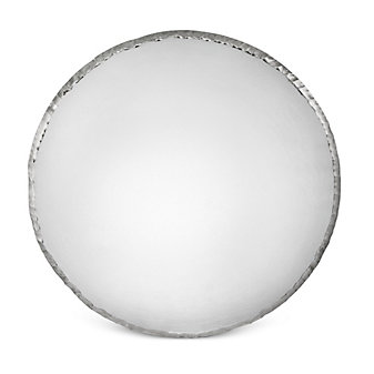 """Annieglass Platinum Edgey Round Platter, 13 1/2"""""""