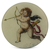 "John_Derian_Cherub_with_Arrow,_5_3/4""_Round_Plate_"