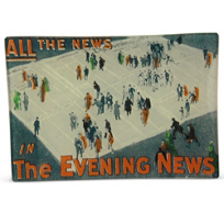 "John_Derian_The_Evening_News_Mini_Tray,_4.5""_x_6.5"""