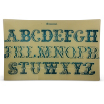 "John_Derian_Ornamental_Letter_Rectangular_Tray,_9""_x_14"""