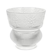 "Lalique_Clear_Rialto_Vase,_Height_4.72""_Diameter_4.72""_"