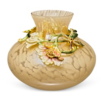 "Jay_Strongwater_Boudoir_Floral_Vine_Vase,_6""_Round,_5""_Tall"