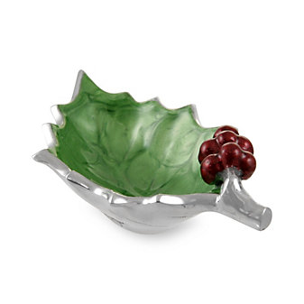 Julia Knight Mojito Holly Sprig Bowl with Red Berries, 6.5""