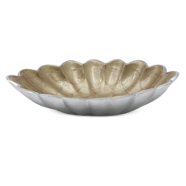 Julia_Knight_Toffee_Oval_Peony_Bowl,_8""