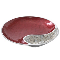 Julia_Knight_Yin_Yang_Pomegranate_Bowl,_13""