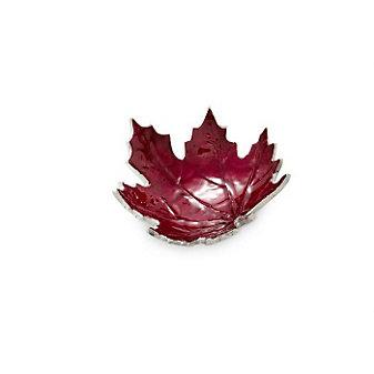 "Julia Knight Pomegranate Maple Leaf Petite Bowl, 6"""
