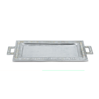 "Julia_Knight_Snow_Classic_25""_Rectangular_Tray_With_Handles"