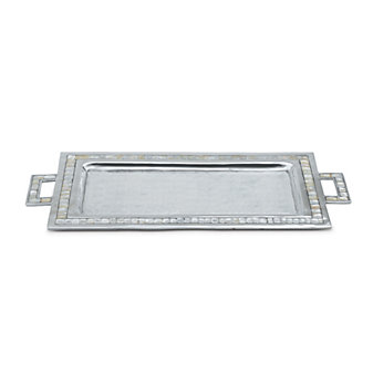 "Julia Knight Snow Classic 25"" Rectangular Tray With Handles"
