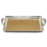 Julia_Knight_Toffee_Classic_Beveled_Tray_With_Handles,_21""
