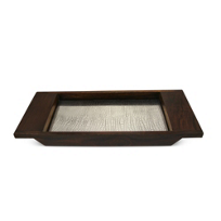 "Mary_Jurek_Kenya_Rosewood_Tray_with_Crocodile_Pattern,_16_1/2""_x_6_3/4""_"
