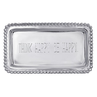 "Mariposa ""Think Happy Be Happy"" Tray"