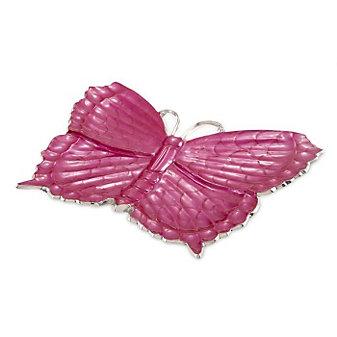 """Julia Knight Raspberry Butterfly Platter, 17"""""""