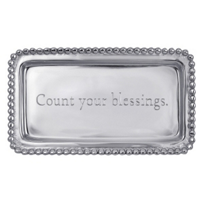 "Mariposa_Count_Your_Blessings_Tray,_6.75""_L_x_3.75""_W"