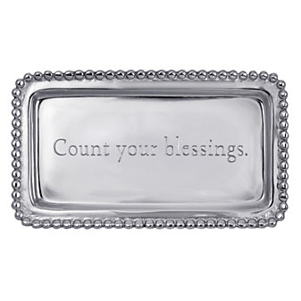 "Mariposa Count Your Blessings Tray, 6.75"" L x 3.75"" W"