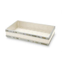 Julia_Knight_Snow_Classic_Guest_Towel_Tray,_9""