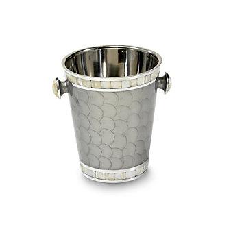 "Julia Knight Platinum Ice Bucket/Wine Chiller, 8"""