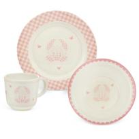 Reed_&_Barton_Gingham_Bunny_3_Piece_Dinnerware_Set