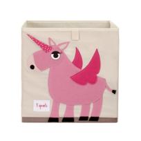 "3_Sprouts_Pink_Unicorn_Storage_Box,_13""_height_x_13""_width_x_13""_depth"