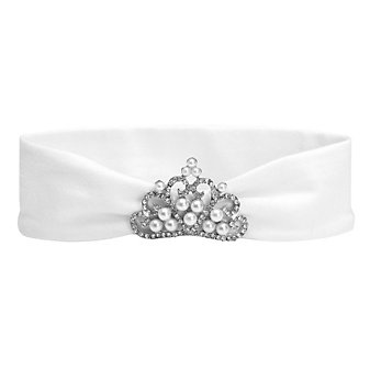 Elegant Baby White Tiara Headband