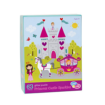 C.R. GIBSON PRINCESS CASTLE SPARKLES 63PC PUZZLE