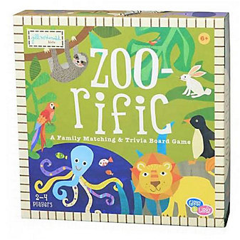cr gibson zoo-rific paper based board game