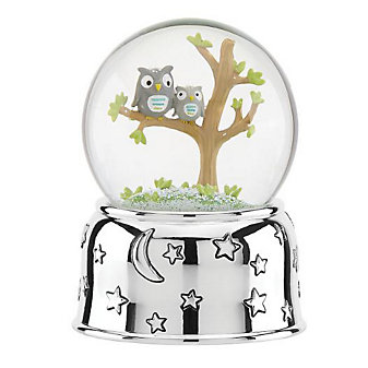 reed & barton hazelnut hollow owl waterglobe