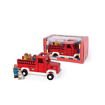 jack rabbit creations red magnetic firetruck toy