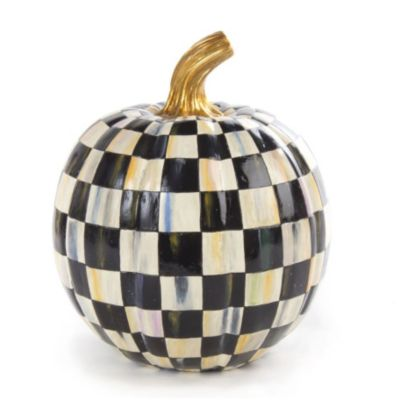 MacKenzie-Childs Courtly Check Pumpkin - Small