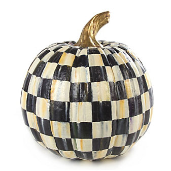 MacKenzie-Childs Courtly Check Pumpkin - Medium