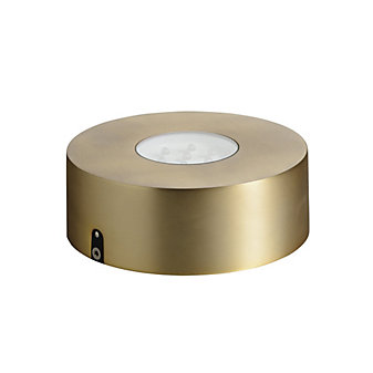 Simon Pearce LED Platform with Timer, Gold Finish
