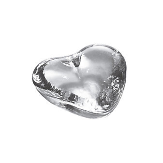 Simon Pearce Highgate Small Heart Paperweight in Gift Box