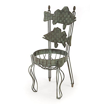 Mackenzie-Childs Fish Chair Planter