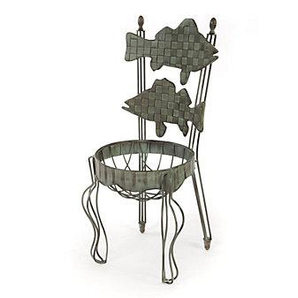 Mackenzie-Childs Fish Chair Planter