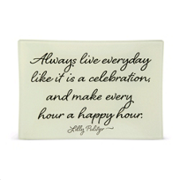 "Ben's_Garden_Live_Everyday_Like_It_Is_A_Celebration_Trinket_Tray,_4""_x_6""_"
