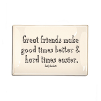 "Ben's_Garden_Good_Friends_Make_Good_Times_6""_x_6""_Decoupage_Glass_Tray"