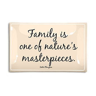 """Ben's Garden Family Is One Of Nature's Masterpieces 4"""" x 6"""" Decoupage Glass Tray"""