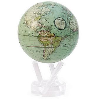 "Mova Cassini Terrestrial Green Globe, 4.5"""
