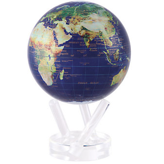 Mova Satellite View Globe With Gold Lettering, 6""