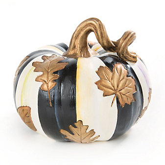 MacKenzie-Childs Fall Leaves Squashed Pumpkin, Small