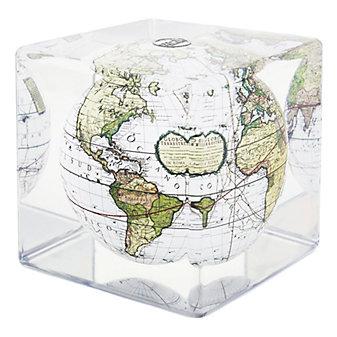 Mova Cassini Terrestrial White Globe Cube