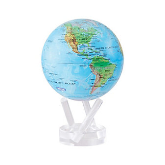 "mova blue green with relief map 8-5"" globe"